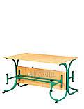 Стол для столовых с роскладными лавками, фото 2