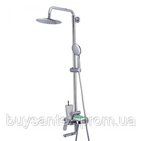Душова система з верхнім душем, термостатом і ручної лійкою - хром Gappo Furai G2419