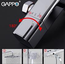 Душова система з верхнім душем, термостатом і ручної лійкою - хром Gappo Furai G2419, фото 3