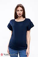 Блузка для вагітних та годування ROWENA BL-20.051 синя