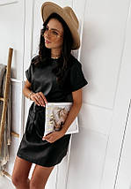 Платье черное классические средней длины миди, короткими рукавами, фото 2