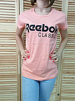 Футболка женская оптом реплика Reebok s,m,l Розовый