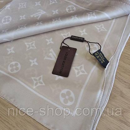 Платок Louis Vuitton шелк бежевый, фото 3