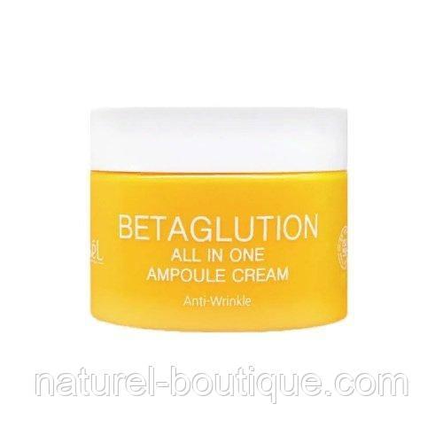 Ампульный крем для лица Ekel Betaglution All In One  Ampoule Cream с бета-глюканом