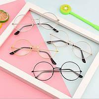 Круглые очки гарри поттера унисекс имиджевые  серебро