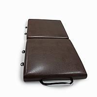Раскладной модульный матрас лежак с жесткой основой и ручками 60х120 см Коричневый