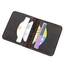 Картхолдер кожаный ручной работы HELFORD Диккер brn (roz-1134029862), фото 3