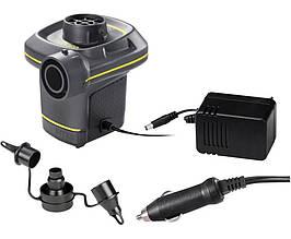 Электрический насос для надувания Intex 66634 от сети и прикуривателя (220-240 V, 12 V, 480 л/мин)