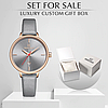 Женские кварцевые наручные часы Naviforce NF5006 Gray-Cuprum-Gray, фото 2