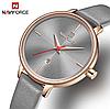 Женские кварцевые наручные часы Naviforce NF5006 Gray-Cuprum-Gray, фото 6