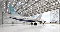 Строительство ангара для самолета Boeing 787