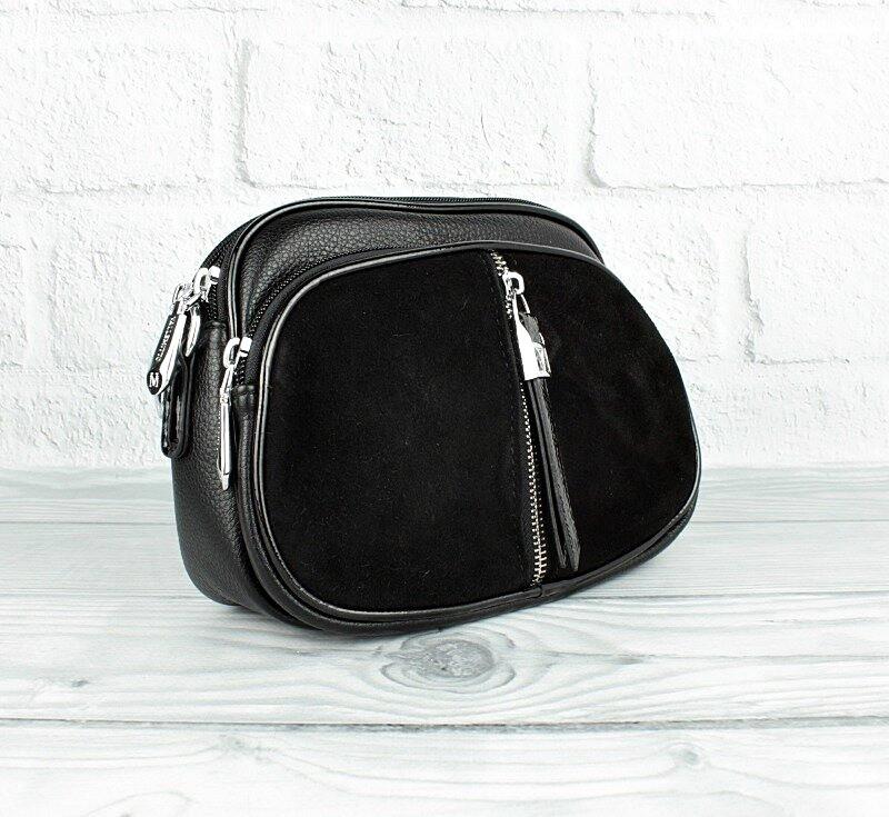 Сумка - клатч комбинированная черная Valle Mitto 86699