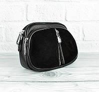 Сумка - клатч комбинированная черная Valle Mitto 86699, фото 1