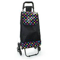 Хозяйственная сумка тележка  на 6-ти колесах со стулом, фото 1