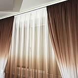 Комплект штор на 3-х метровый карниз «Батист-растяжка» (коричневого цвета), фото 3