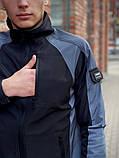 Мужская куртка ветровка Intruder 20976 серо-черная, фото 4