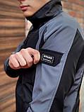 Мужская куртка ветровка Intruder 20976 серо-черная, фото 5