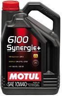 Моторное масло MOTUL 6100 SYNERGIE+ 10W-40 (4L) Масла оригинал, с защитным штрих кодом 4-208л уп.