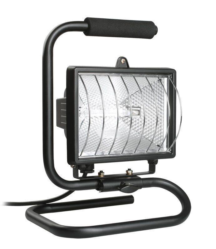 Прожектор галогенный ИО500П (переноска) IP54 черный IEK