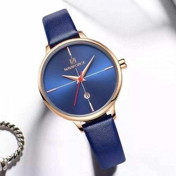 Женские кварцевые наручные часы Naviforce NF5006 Blue-Cuprum-Blue
