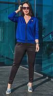 Стильный женский батальный спортивный костюм из дайвинга  (р.48-58). Арт-1866/3, фото 1
