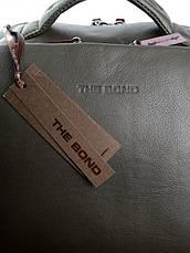 Рюкзак кожаный для ноутбука Case 1179.7 зеленый, фото 2
