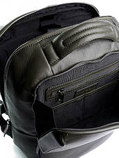 Рюкзак кожаный для ноутбука Case 1179.7 зеленый, фото 3