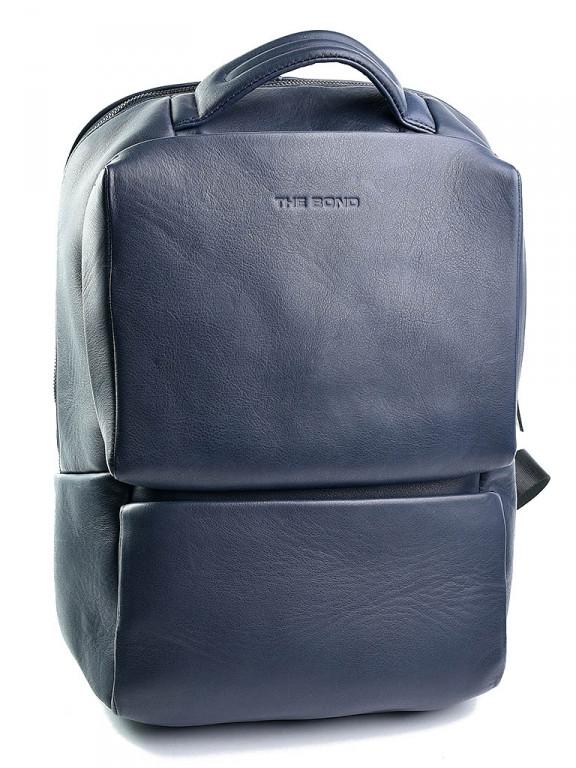 Шкіряний Рюкзак для ноутбука Case 1179.49 синій