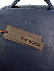 Шкіряний Рюкзак для ноутбука Case 1179.49 синій, фото 2