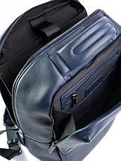 Шкіряний Рюкзак для ноутбука Case 1179.49 синій, фото 3