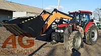 Погрузчик КУН тракторный фронтальный быстросъёмный НТ-2000 АГРИС на CASE JX 110 с ковшом 1,3