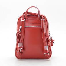 Рюкзак натуральная кожа 9060/043 красная, фото 3