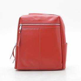 Рюкзак натуральная кожа 9097 красная