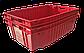 Ящик пластиковый сплошной конусный 600x400x180 для мяса из первичного п/э, фото 3