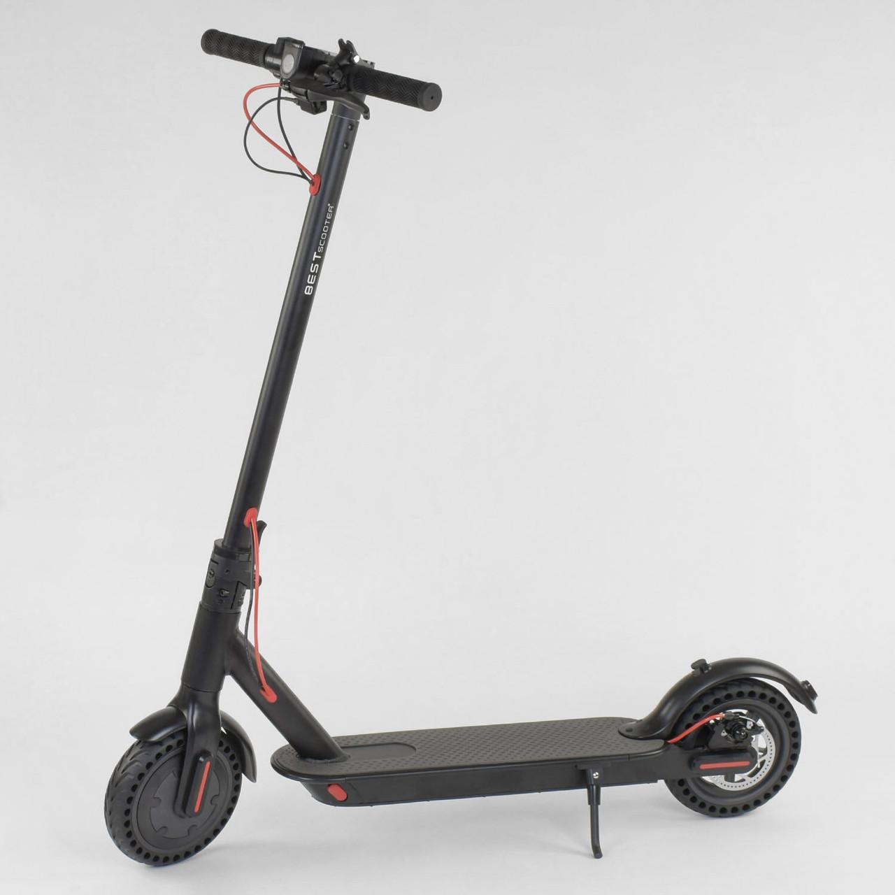 "Електросамокат 3678 ""Best scooter"", колеса 8,5"" чорний"