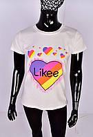 Стильная футболка для девочки Лайки