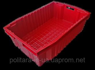 Ящик пластиковый сплошной конусный 600x400x180 для пищевых продуктов