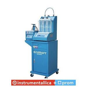 Установка для диагностики и чистки форсунок (6 форсунок, тележка, у/звуковая ванна с таймером) GI19113 G.I.