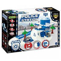 Трек пластиковый play tracks city Полиция гараж с машинками (53520)
