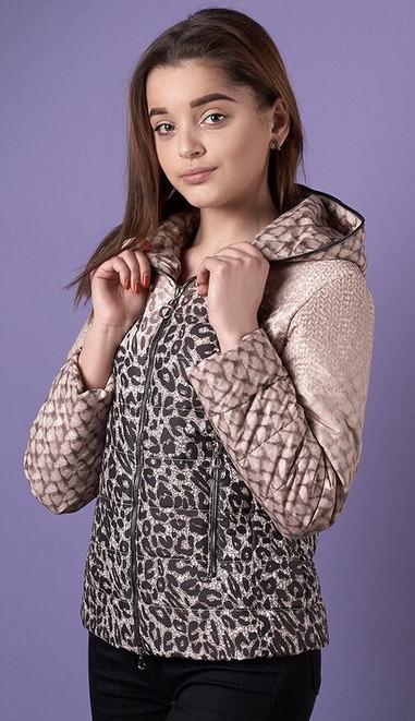 {есть:38,40,44} Куртка леопардовый принт для девочек, 38-44 рр . Артикул: PL0092