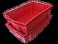 Ящик пластиковый сплошной конусный 600x400x180 из вторичного п/э черный, фото 2