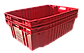 Ящик пластиковый сплошной конусный 600x400x180 из вторичного п/э черный, фото 3