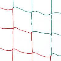 Сетка оградительная D 2,5 мм, ячейка 15 см, красно-зелёная для Республики Беларусь