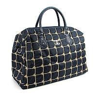 Сумка дорожная текстильная женская синяя Chanel 5340