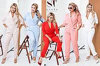 Женский стильный комбинезон брюками батал /разные цвета, 42-54, ST-58921/