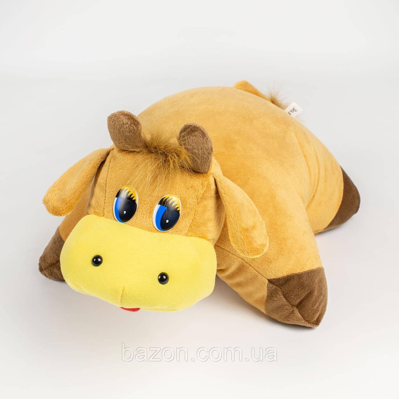 Мягкая игрушка Подушка трансформер бычок
