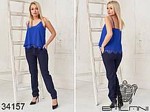 Жіночий літній костюм футболка+штани 3расцв. (42-46р)