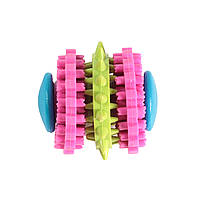 Игрушка из литой резины для собак FOX гантель с шестерен, 6 см