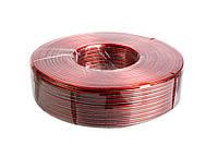 Кабель акустический 0,57 CCA красно-черный, 100м.