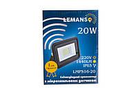 Прожектор LED 20W 6500K IP65 1440LM Lemanso с микроволновым датчиком